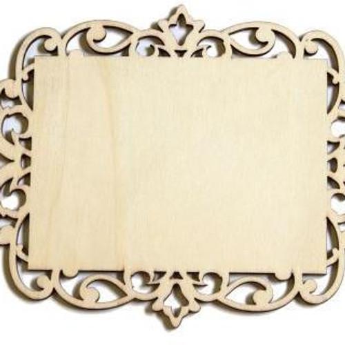 laser cut wood plaque 5 x 7 - Laser Cut Wood