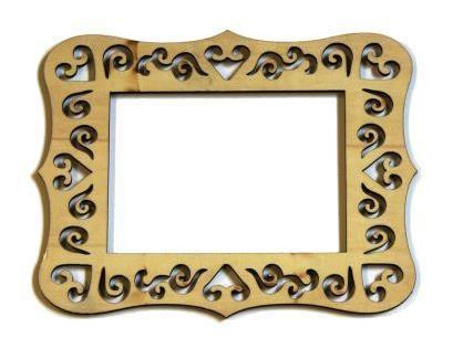 Laser Cut Wood Frame 4 X 6