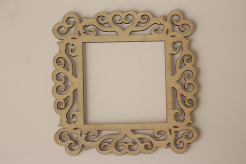 Laser Cut Wood Frame 4 X 4