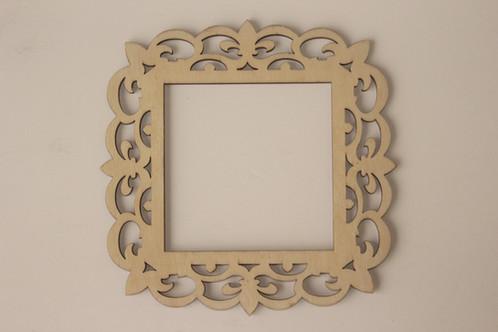 Laser Cut Wood frame, 4 x4 | cardinalartsandcrafts.net