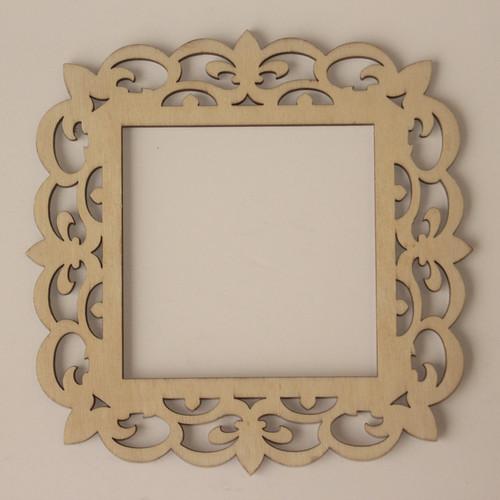 laser cut wood frame 4 x4 - Laser Cut Wood