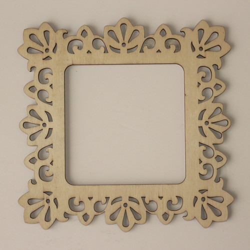 laser cut wood frame 4 x 4 - Wood Frames