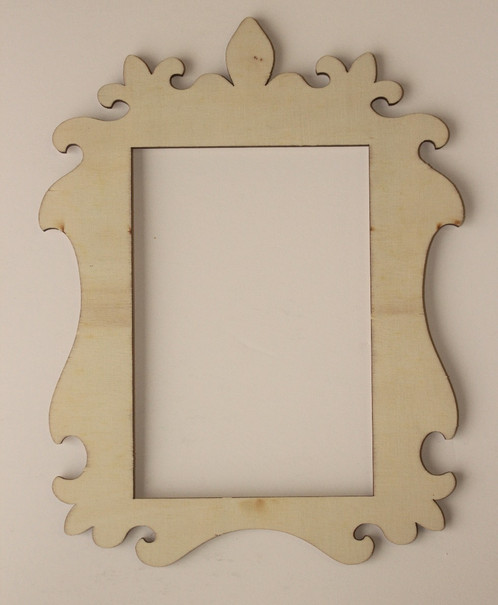Laser Cut Wood Frame, 4 x 6