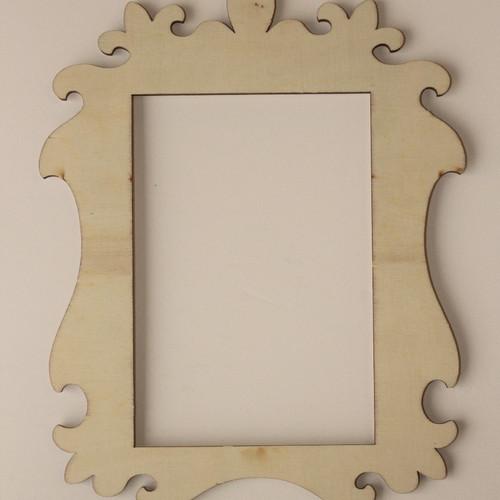 laser cut wood frame 4 x 6 - Wood Picture Frames