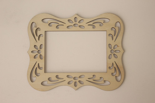 cardinal arts crafts laser cut wood frame is ideal for craft projects photos or wall decor unfinished frames is 18 inch thick - Wooden Laser Cut Frame