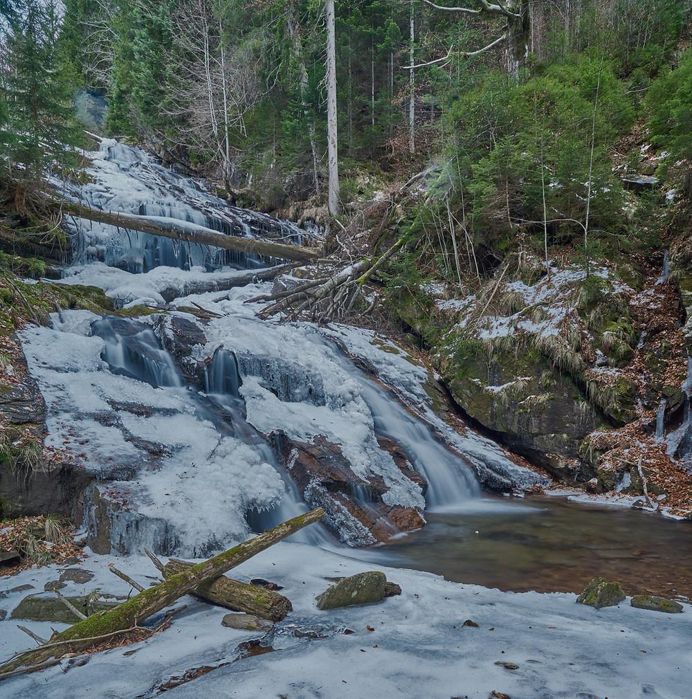 Der Sulmwasserfall in der Südweststeiermark