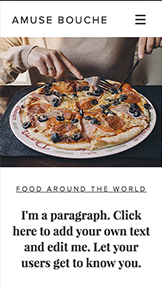 Lifestyle website templates – Culinary Blog