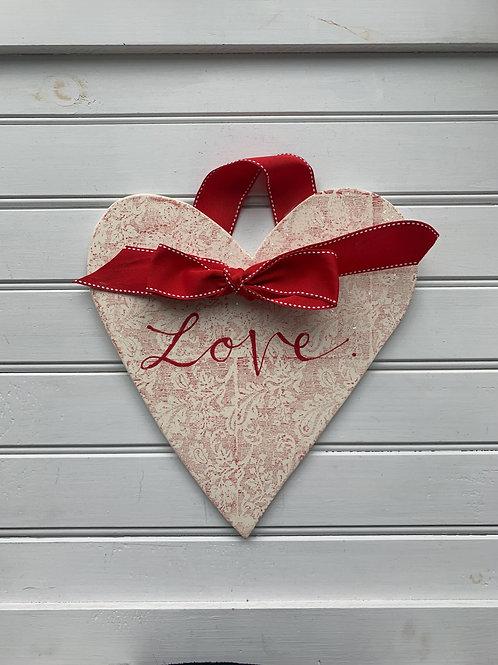 Valentine's/Anniversary/Wedding: Hanging Heart: Paisley Love