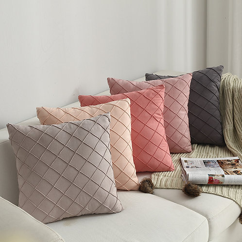 Modern Simple Nordic Plaid Pillow Cover Suede