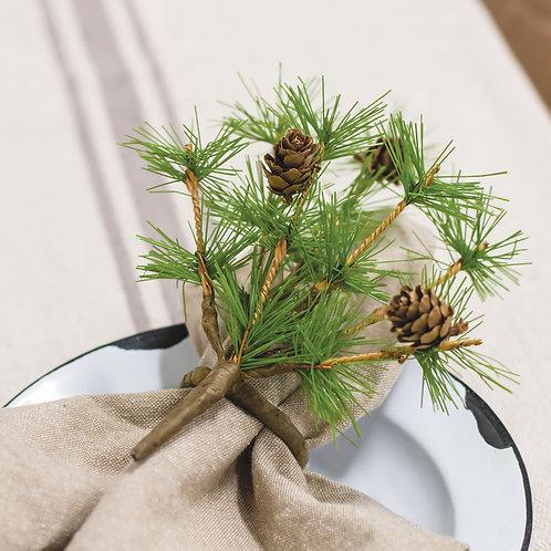 Tahoe Pine Napkin Rings Set of 4