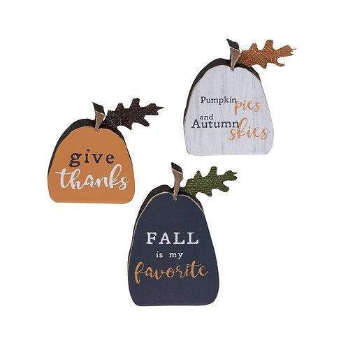 Fall Freestanding Pumpkins Sets