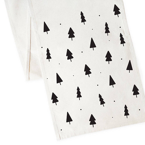 Christmas Tree Table Runner and Holiday Party Decoration