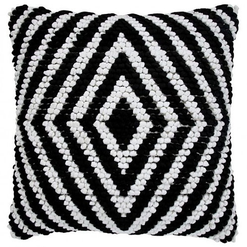 Saatvik Black & Ivory Pillow Diamond