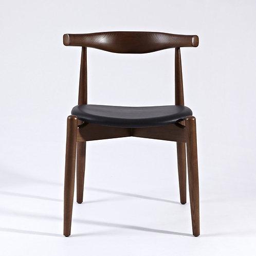 Hannah Chair - Walnut & Black - Round Seat