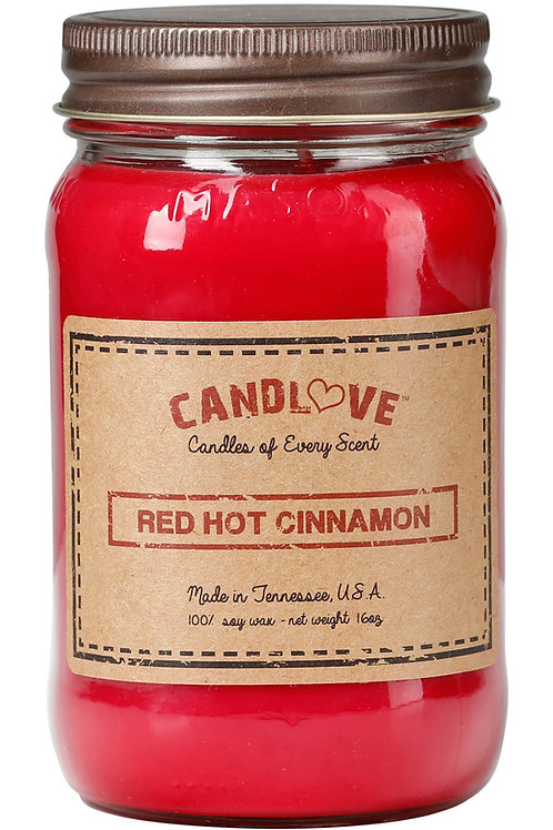 Red Hot Cinnamon Scented Candle 100% Soy Wax