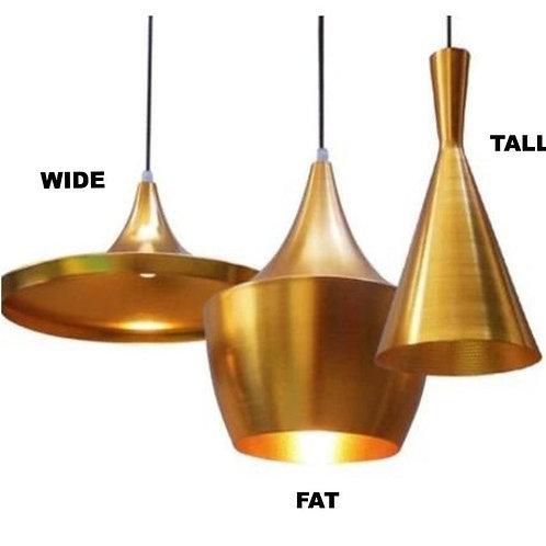 Jayda Tall Pendant Lamp - Gold