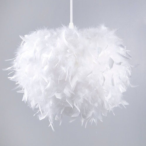 Round Decorative Feather Shade