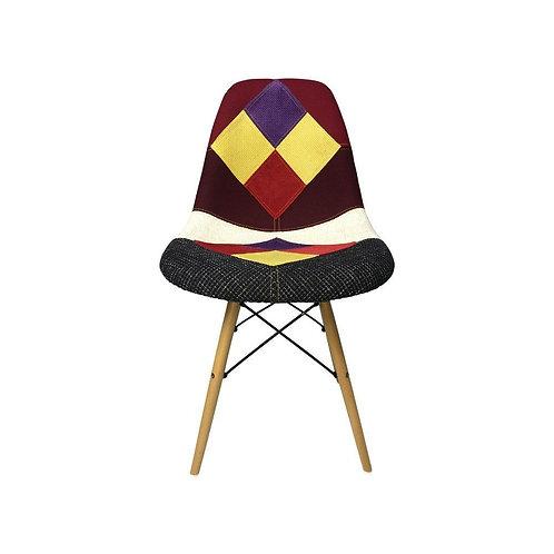 Eiffel Patchwork Chair - E - Wooden Legs
