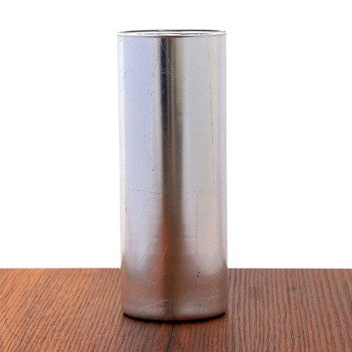 """GILT 9"""" Silver Cylinder Vase"""