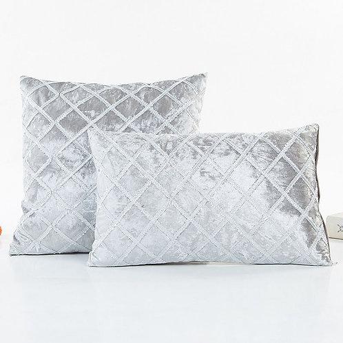 Silver Diamond Throw Pillow Cover