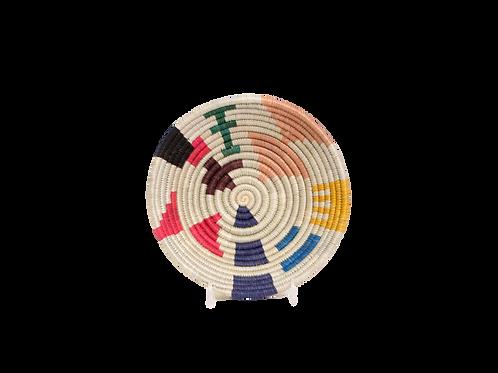 "6"" Small Neon Mtoto Round Basket"