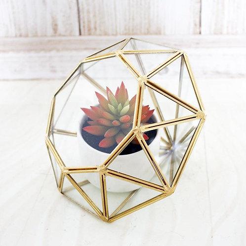 Geometric Glass Single Plant Vase