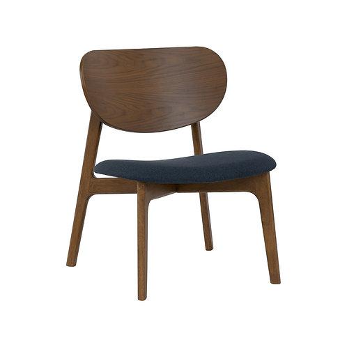 Aleta Lounge Chair - Navy & Cocoa