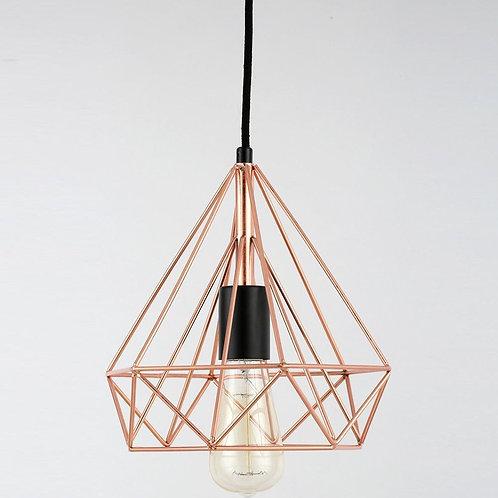 Copper Wire Pyramid Pendant Lamp