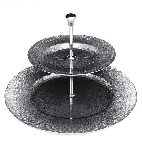 RITZ Gray/Silver Two Tier Plate