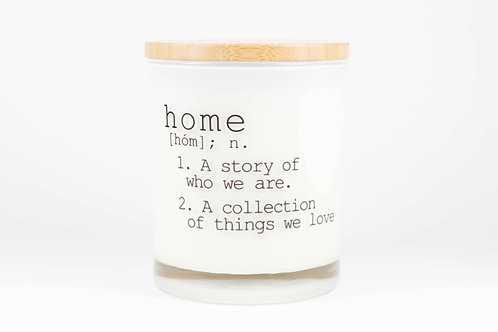 Home Definition Soy Candle