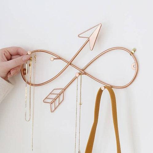 Rose Gold Infinity Arrow Wall Hooks