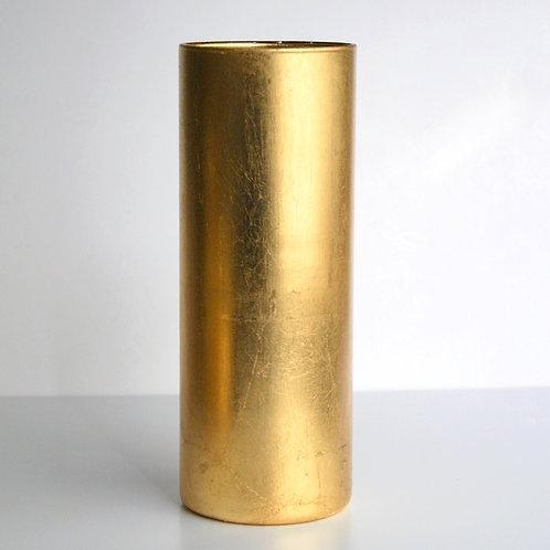 """GILT 9"""" Gold Cylinder Vase"""