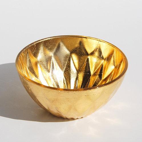 "GILT DIAMOND Set/4 Gold Gilded 4.5"" Bowls"