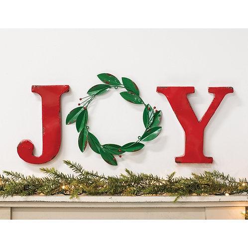 Joy Wreath Wall Hanging