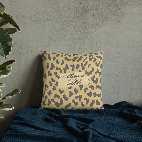 Stay Wild Leopard Animal Print Cushion