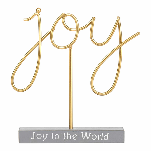 JOY TO THE WORLD GOLD FIGURINE