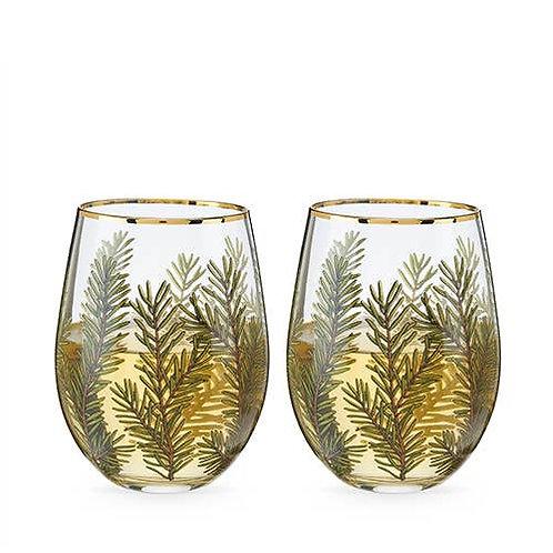 Woodland Stemless Wine Glass Set