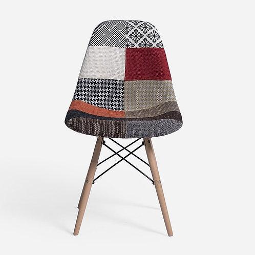 Eiffel Patchwork Chair - G - Wooden Legs