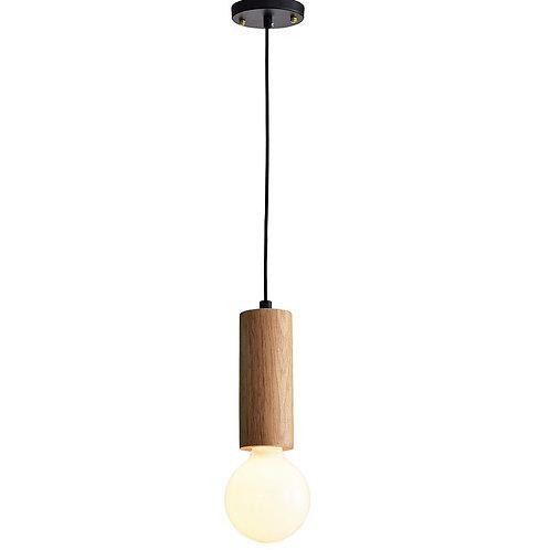 Solid Wood Single Pendant Lamp - Natural