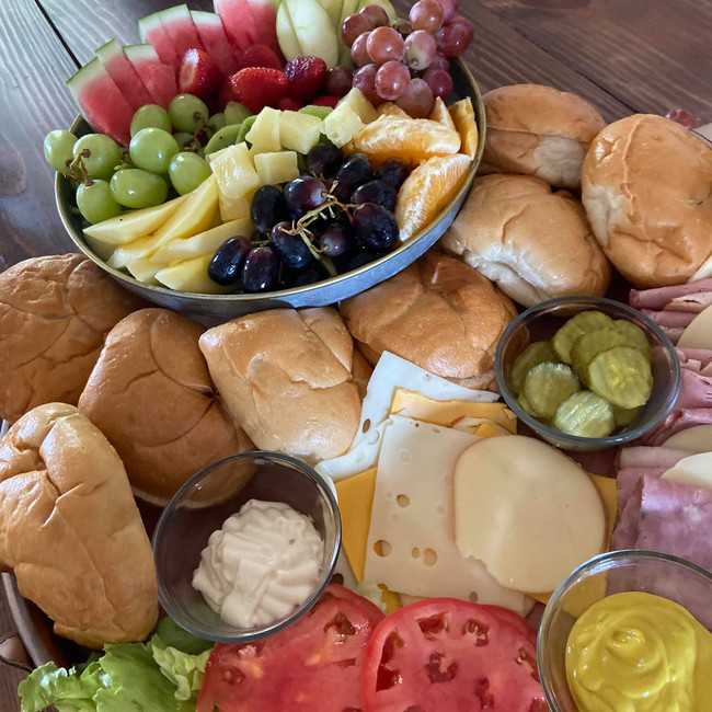 The Sandwhich and Fruit Board