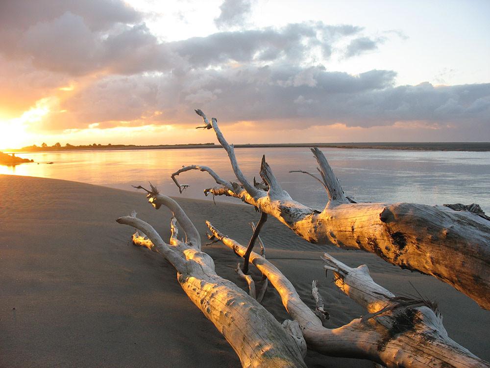 Sunset on New Zealand's Tasman Sea