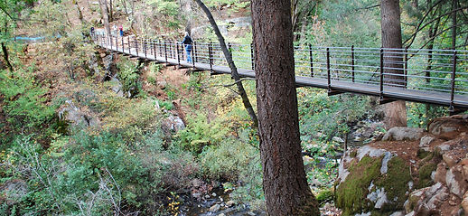 Nevada Cith Suspension Bridge