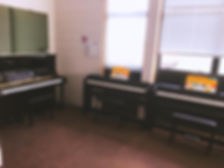 cherry piano music school room electric piano