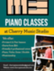 Copy of Piano Classes Flyer - Made with