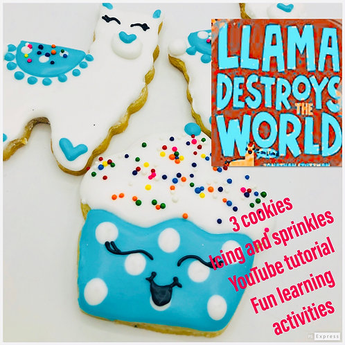 Llama & cupcake decorating kit