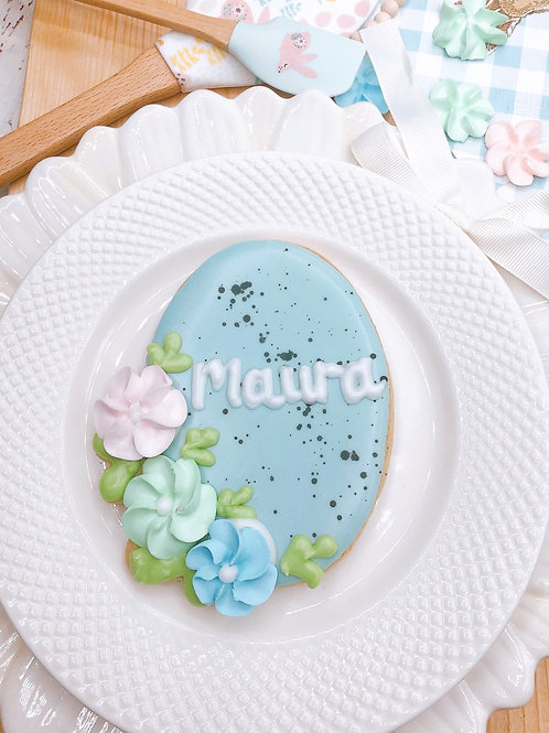 Personalized Floral Egg