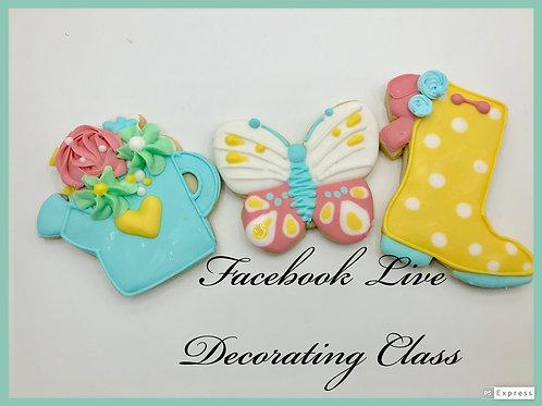 Facebook Live Decorating class 5/9 @8pm