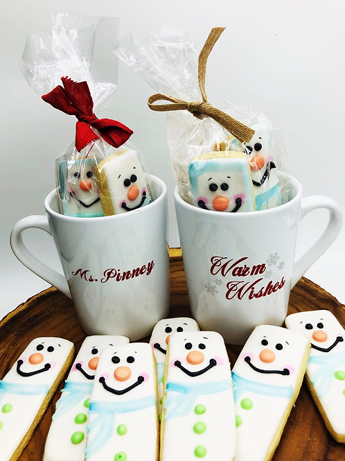 Warm Wishes personalized cookie mug