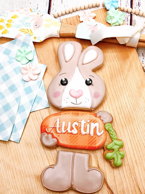 3 piece bunny with personalization