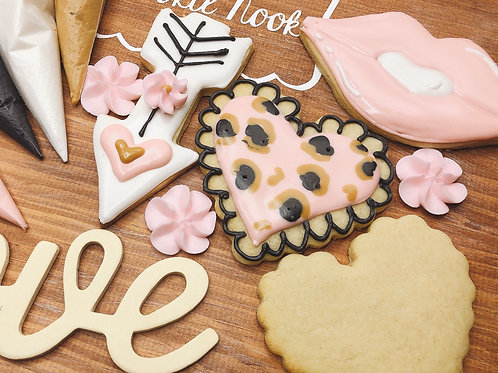 Decorating kit with tutorial(12 cookies)